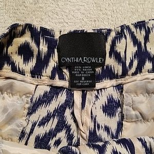 Cynthia Rowley Shorts - CYNTHIA ROWLEY AZTEC SHORTS SZ 8